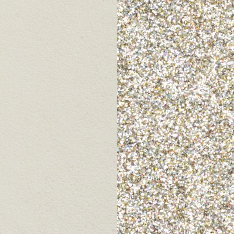 Cuir pour bracelet Les Georgettes largeur 14 mm Crème/Paillettes dorées 702145899C4000