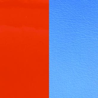 Cuir pour bracelet 25 mm Les Georgettes Orange vernis/Bleuet 702755199C2000