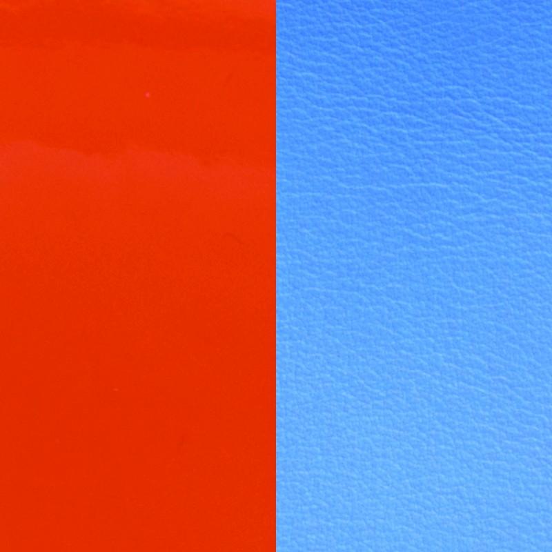 Cuir pour bracelet Les Georgettes largeur 25 mm Orange vernis/Bleuet 702755199C2000