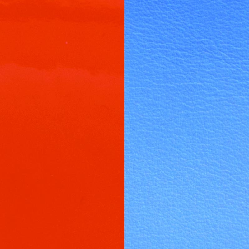 bf3117c9cffcd8 Cuir pour bracelet 25 mm Les Georgettes Orange vernis/Bleuet 702755199C2000