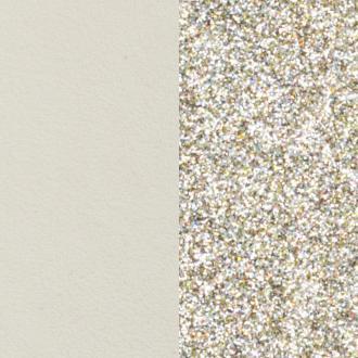 Cuir pour bracelet 25 mmLes Georgettes Crème/Paillettes dorées 702755199C4000