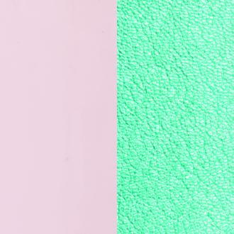 Cuir pour bracelet 25 mm Les Georgettes Nude vernis/Turquoise métallisé 702755199C5000