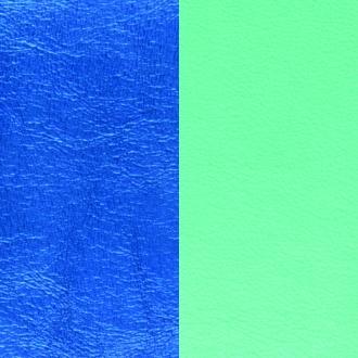 Cuir pour bracelet Les Georgettes largeur 25 mm Bleu Sirène/Vert d'eau 702145799C6000