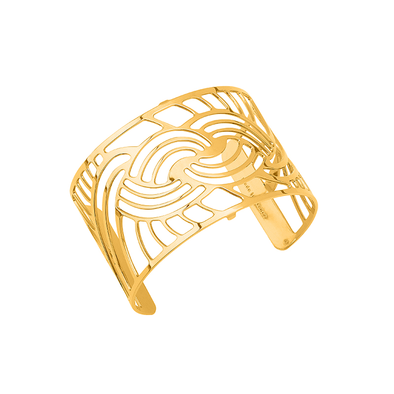 Bracelet manchette Les Georgettes Nouage 40 mm finition or 70316330100000
