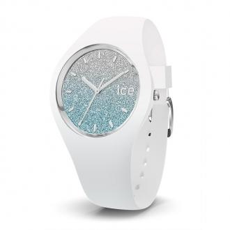 Montre Ice Lo Blanc et bleu pailleté Taille M 013429
