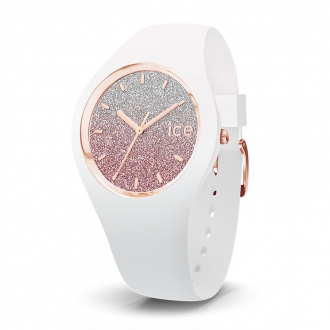 Montre Femme Ice Watch Ice Lo Blanc et rose Taille M 013431