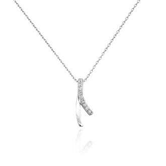 Collier Femme Carador argent 925/000 et oxydes de zirconium RNS00187