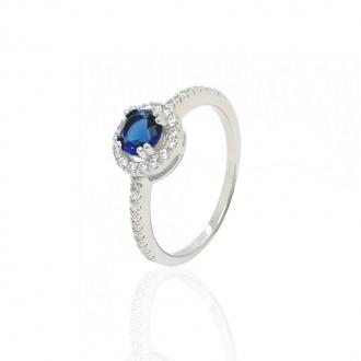Bague femme Carador baroque argent 925/000 et pierre de verre bleue RRS00249BL-54