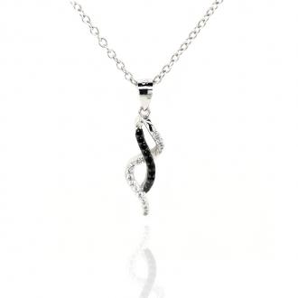 Collier Femme Carador argent 925/000 et oxydes de zirconium bicolores