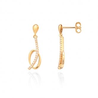 Boucles d'oreilles Carador pendantes plaqué or 22EU0870CZ