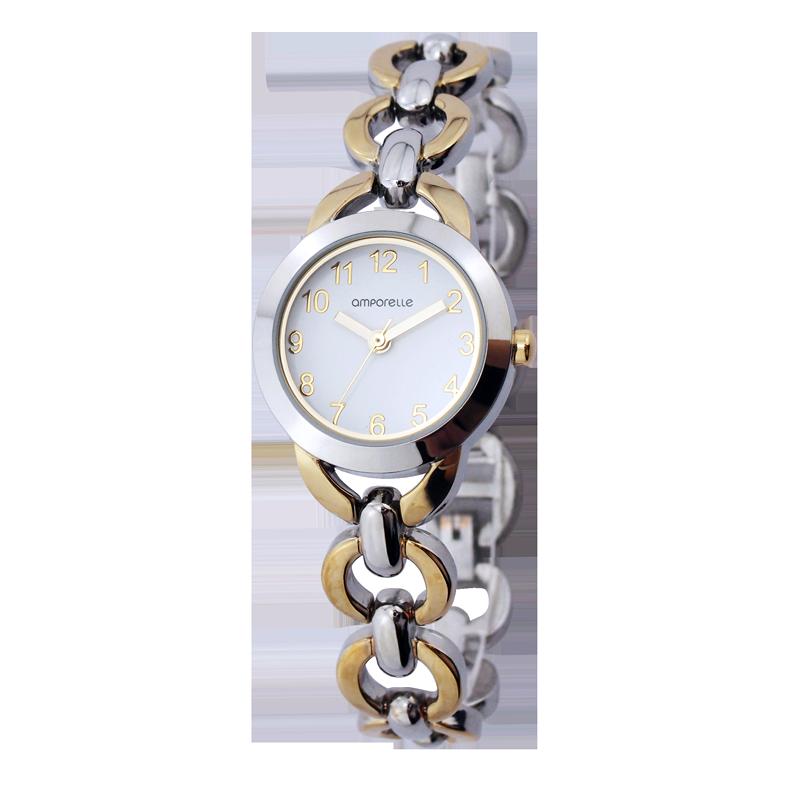 Montre Femme Amporelle métal bicolore P100516-B2