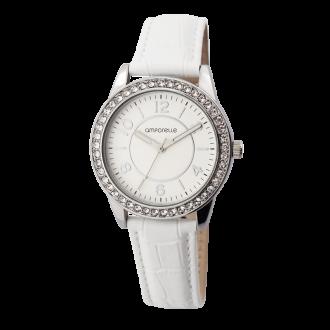 Montre Femme Amporelle cuir blanc P100550-B3