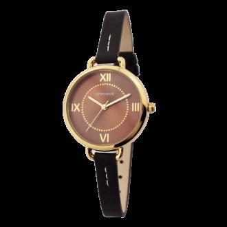 Montre Femme Amporelle cuir marron 8 mm P100553-C3