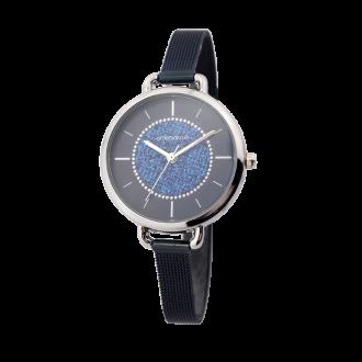 Montre Femme Amporelle maille milanaise bleue P100553-H2