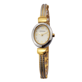 Montre Femme Amporelle Rétro métal bicolore P100554-F2