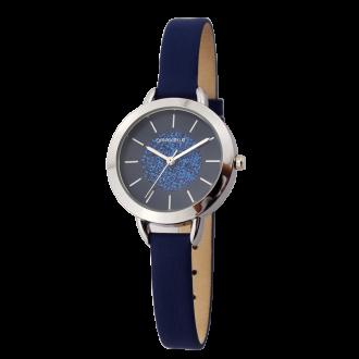 Montre Femme Amporelle cuir bleu P100576-E3