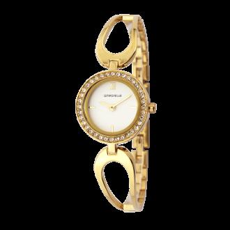 Montre Femme Amporelle métal doré bracelet fantaisie P100637-B2