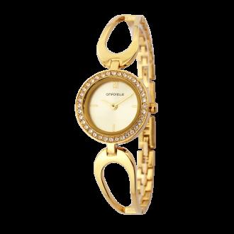 Montre Femme Amporelle métal doré bracelet fantaisie P100637-C2