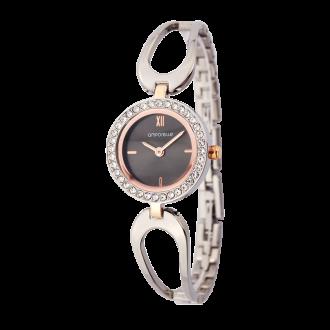 Montre Femme Amporelle métal argenté bracelet fantaisie P100637-D2