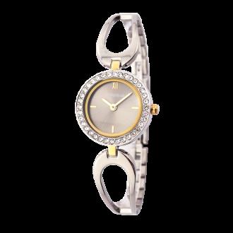 Montre Femme Amporelle métal argenté bracelet fantaisie P100637-E2