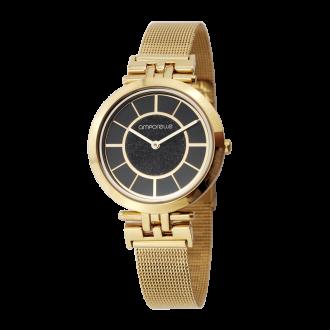 Montre Femme Amporelle métal doré maille mailanaise P100758-K2