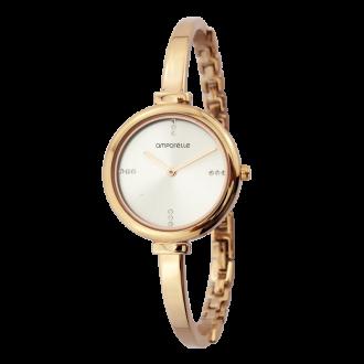 Montre Femme Amporelle bracelet rigide doré P100775-A2
