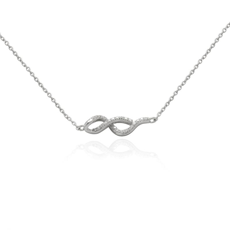 très convoité gamme de matériaux de qualité supérieure acheter pas cher Collier Femme Carador collection éternelle argent 925/000, oxydes de  zirconium blancs RNS00251WH