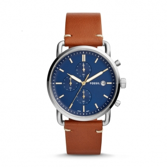 Montre Homme Fossil The Commuter Chronographe cuir brun FS5401