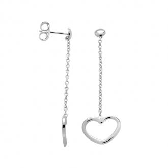 Boucles d'oreilles Femme Carador coeur argent 925/000 MORP1463C