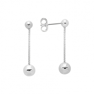 Boucles d'oreilles Femme Carador boules argent 925/000 MORP3194D6