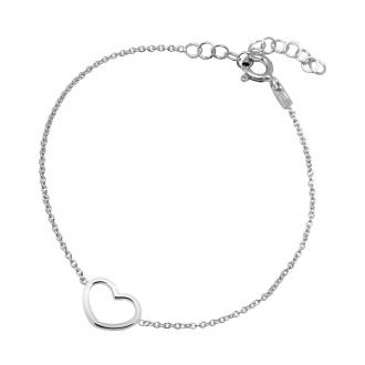 Bracelet Femme Carador coeur argent 925/000 MBR1463C