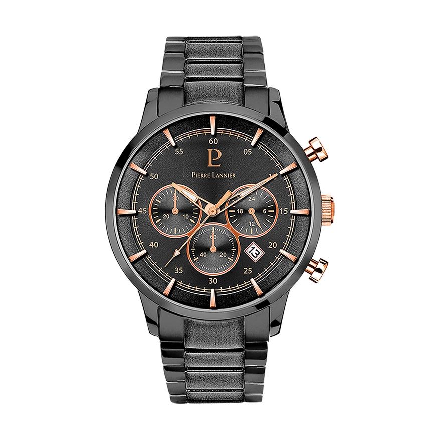 Montre Homme Pierre lannier chronographe acier noir 244F489 pour HOMME 0be14b75961