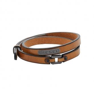 Bracelet Homme Diesel cuir marron DX0984040