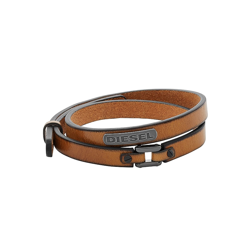 bracelet homme diesel cuir marron dx0984040 pour homme. Black Bedroom Furniture Sets. Home Design Ideas