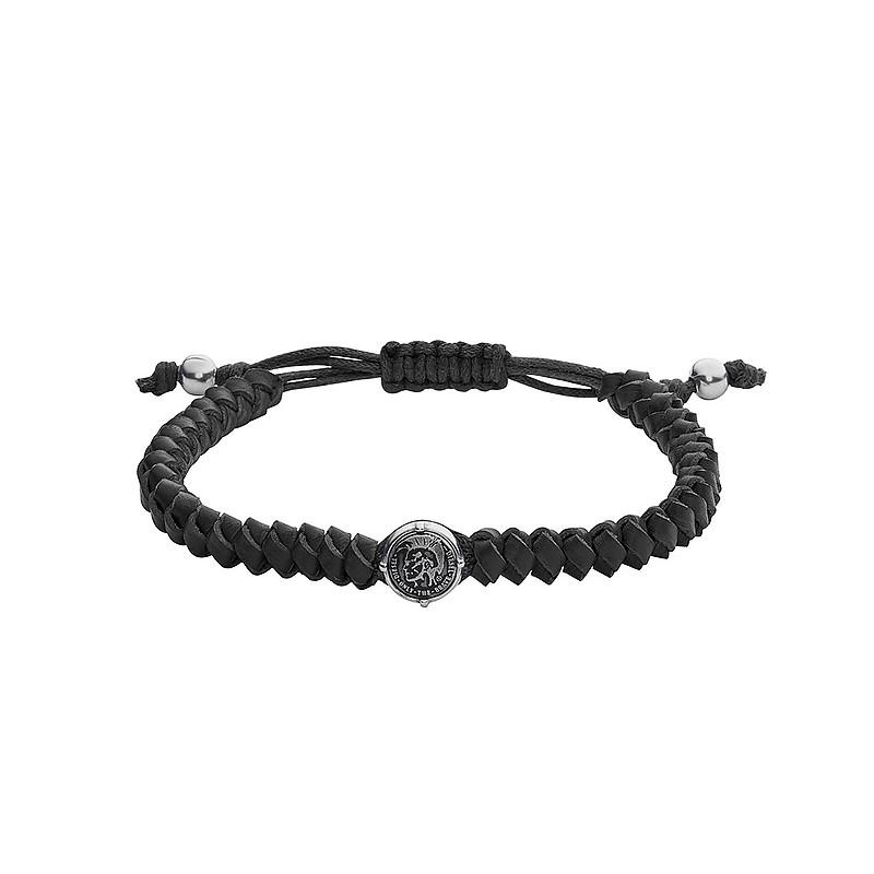 Bracelet Homme Diesel cuir noir DX1043040