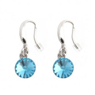 Boucles d'oreilles Indicolite Emily cristal bleu ciel BOCR-EMI-202