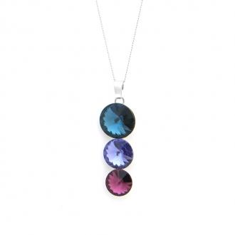 Collier Indicolite Ricochet cristal bleu et mauve CO-RICO-207