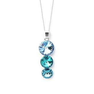 Collier Indicolite Ricochet cristal bleu CO-RICO-211
