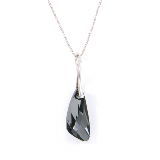 Collier Indicolite Wing cristal gris CO-WING-SINI