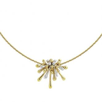 Collier femme Jourdan Bijoux Artifice plaqué or bicolore BR 145