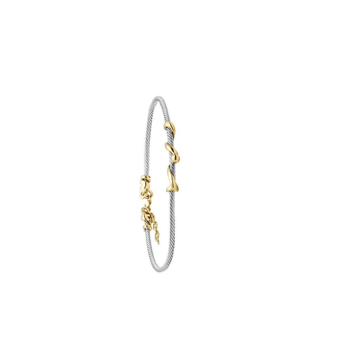 Bracelet Femme Jourdan bijoux Piano plaqué or et argent Js 780
