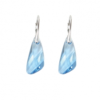 Boucles d'oreilles Indicolite Wing cristal bleu DO-WING-202