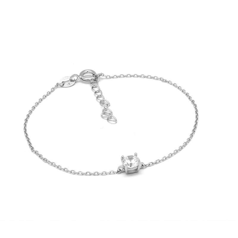 Bracelet femme Carador solitaire argent 925/000 RTS00091