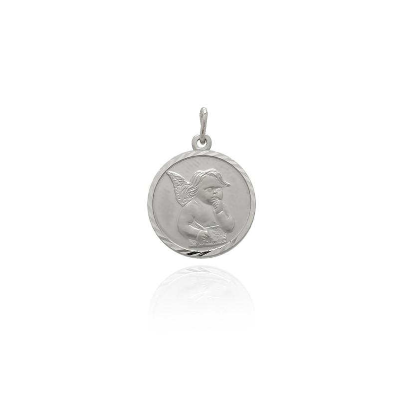 Médaille ronde Carador ange en argent 925/000 M5407B
