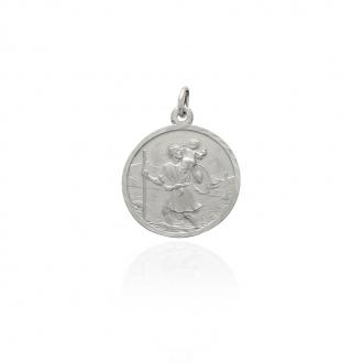 Médaille ronde Carador St Christophe en argent 925/000 M5401C