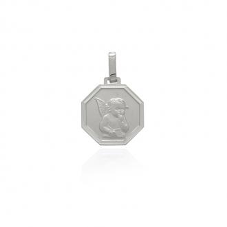 Médaille octognale Carador ange en argent 925/000 M5455C