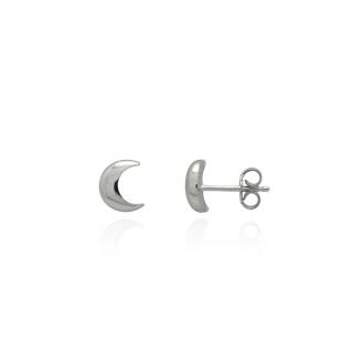 Boucles d'oreilles Carador croissant de lune argent 925/000