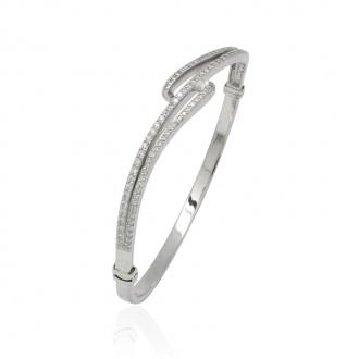 Bracelet Jonc Carador argent 925/000 et oxydes de zirconium ABR2953.5