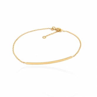 Bracelet femme Carador Ligne collection graphique en or jaune 375/000 238BR