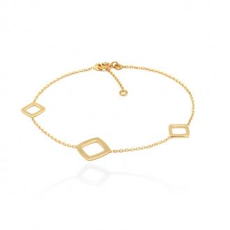 Bracelet femme Carador carrés collection graphique en or jaune 375/000 345BR